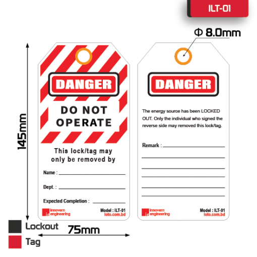 Lockout Safety Tag